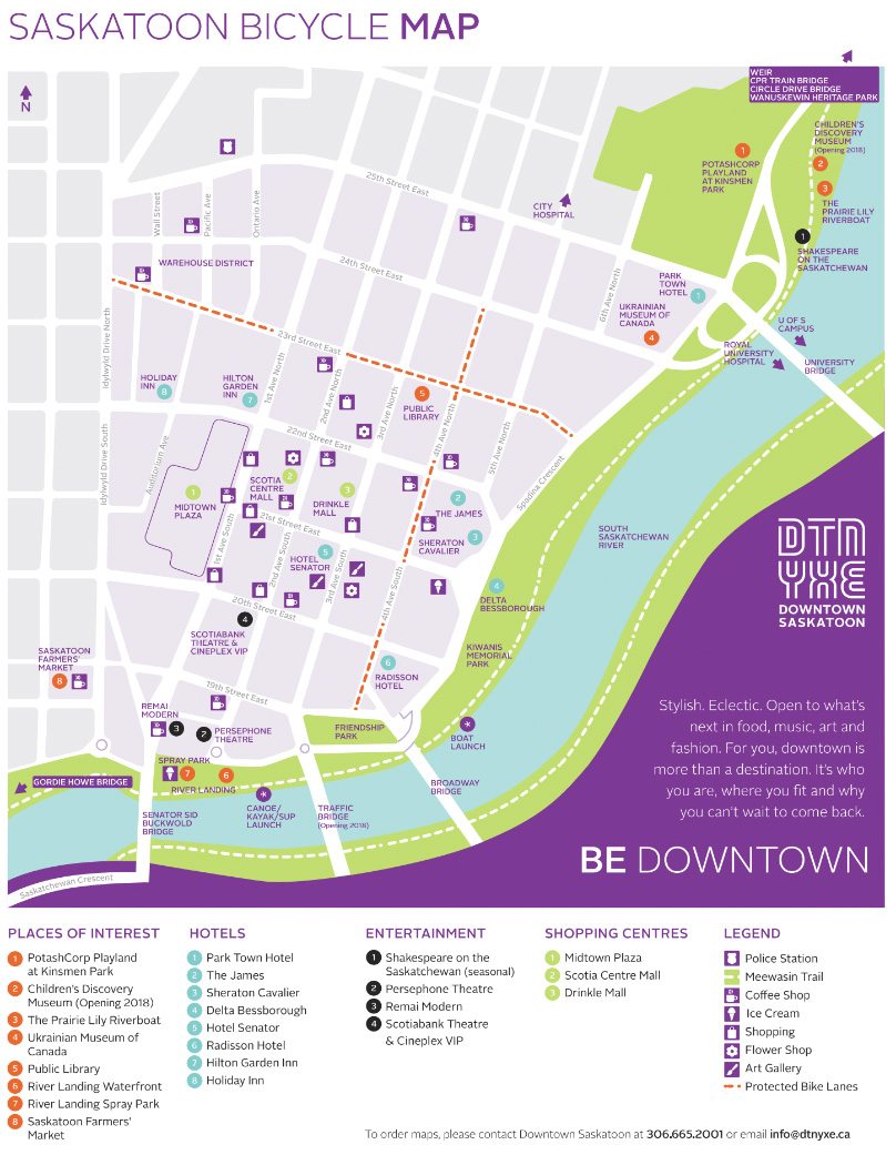 Saskatoon Bike Map