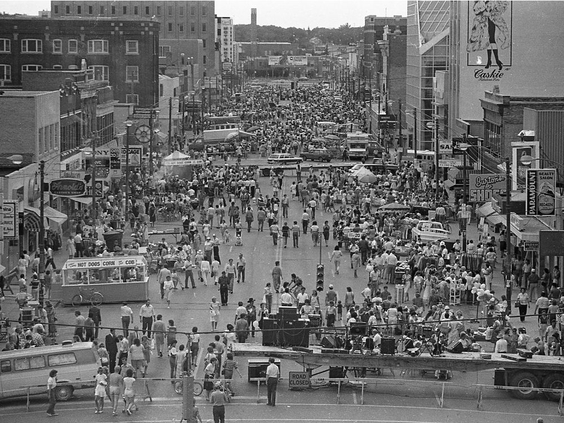 A Look Back at Past Sidewalk Sales in DTNYXE!